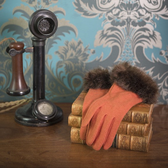 Powder Tallulah Gloves - Tangerine