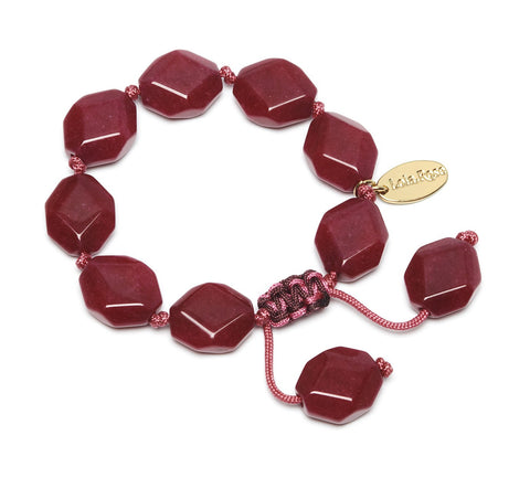 Lola Rose Abbot Bracelet - Red Plum Quartzite