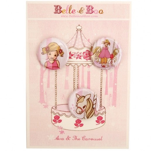 Belle & Boo Ava & The Carousel Badge Set