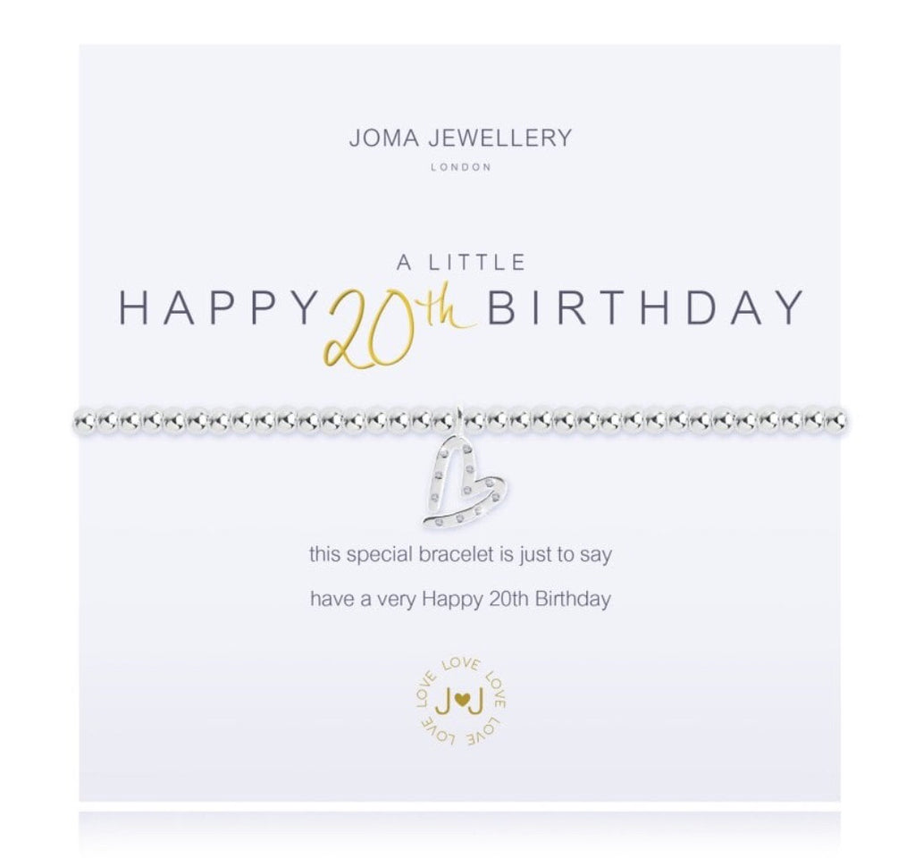 Joma Jewellery A Little Happy 20th Birthday Bracelet