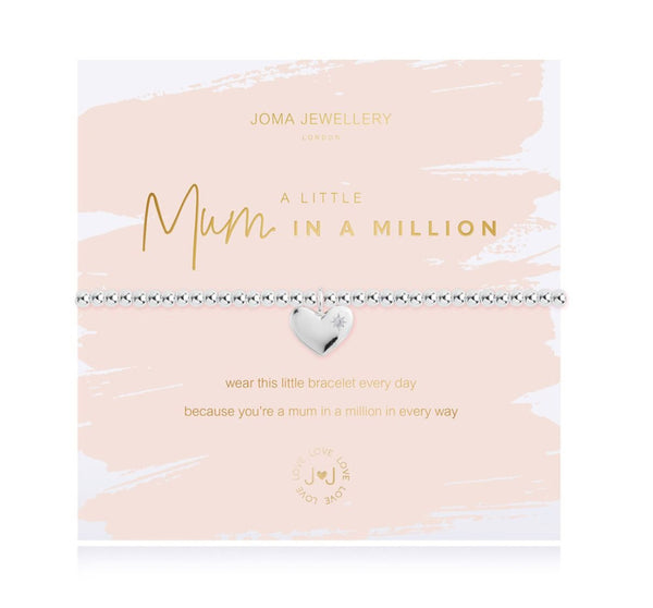 Joma Jewellery - A Little Mum In a Million Bracelet - Boxed