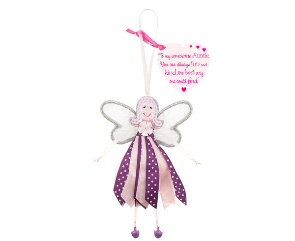 'To My Awesome Auntie' Spotty Quote Fairy