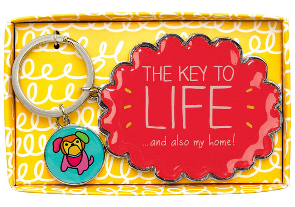 Happy Jackson - The Key to LIFE...and also my home!' Keyring
