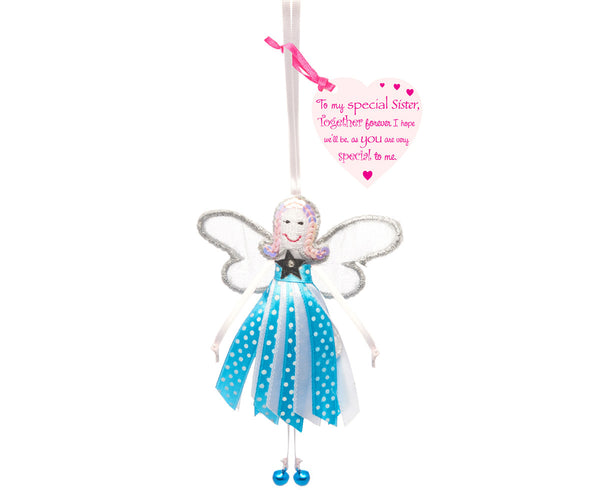 'To My Special Sister' Spotty Quote Fairy