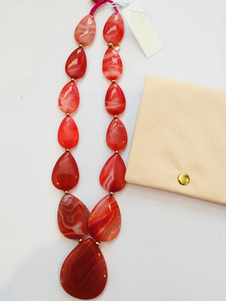 Lola Rose Belva Necklace - Scarlet Agate