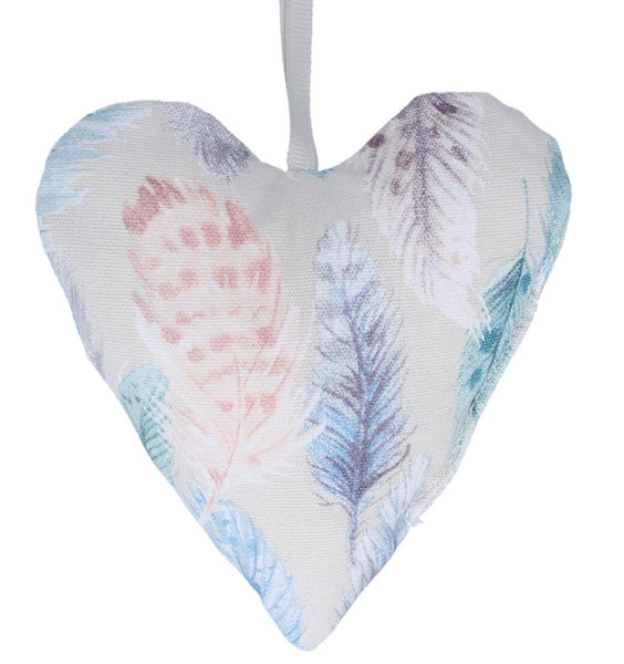 Gisela Graham Feather Design Cotton Lavender Heart