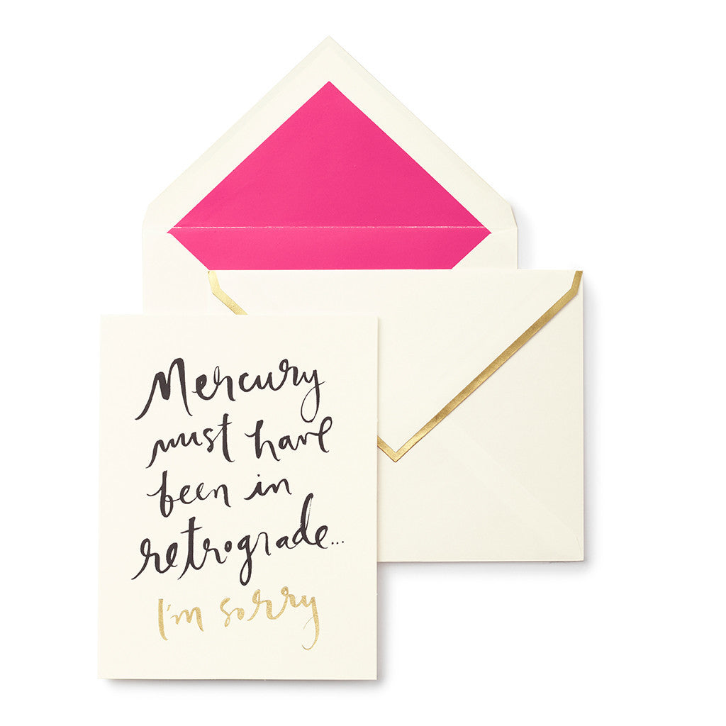 Kate Spade New York Greeting Card Mercury In Retrograde The