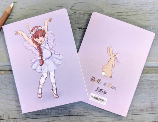 Belle & Boo 'Butterfly Ballerina' Mini Notebook