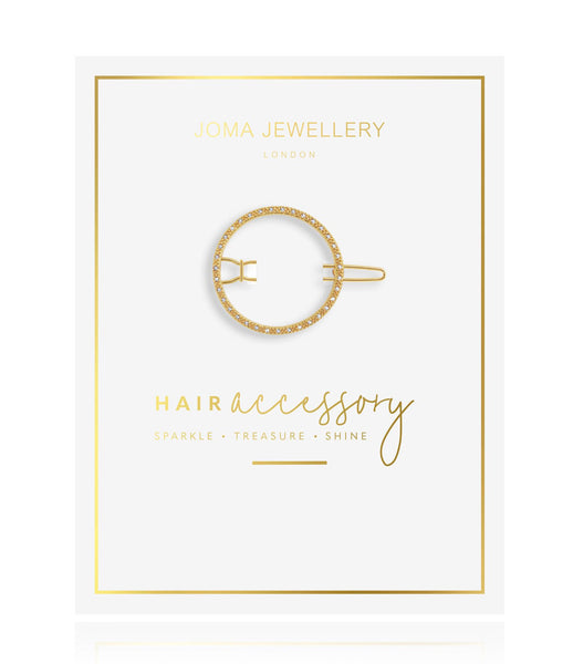 Joma Jewellery - Hair Accessory Gold Pave Circle Clip