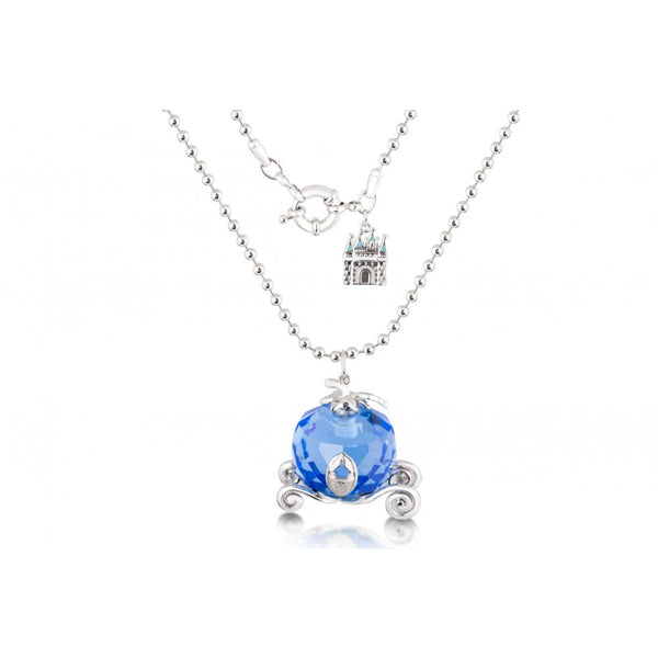 Disney Couture Cinderella Crystal Glass Carriage Necklace