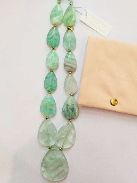 Lola Rose Belva Necklace - Light Green Fluorite