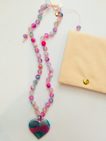 Lola Rose Ece Necklace - Candy Floss Montana Agate