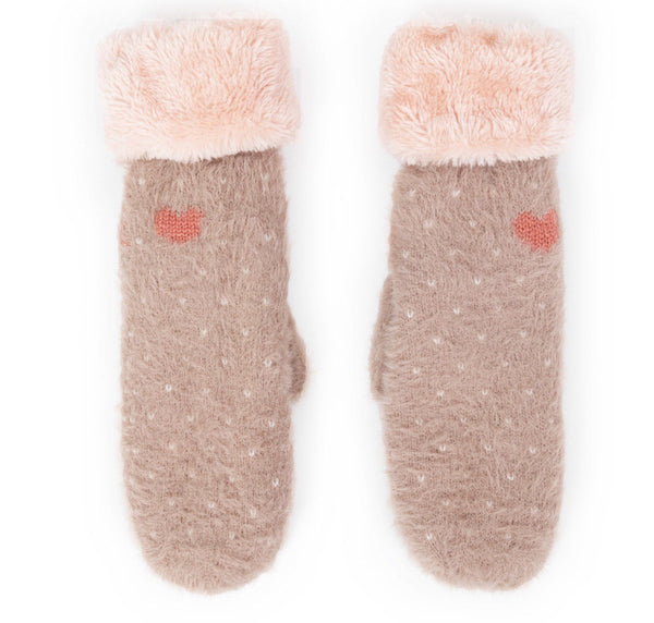 Powder Cosy Polly Mittens Stone
