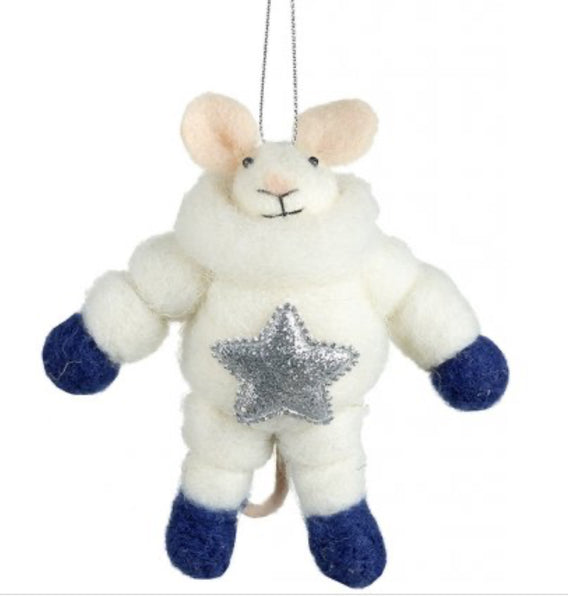 Astronaut Mouse Hanging Felt Decoration