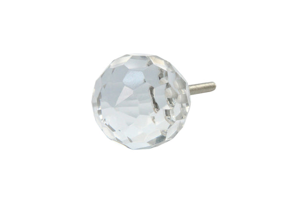 Gisela Graham Clear Crystal Round Door Knob