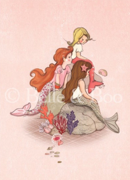Belle & Boo Postcard - 'Mermaid Rock'
