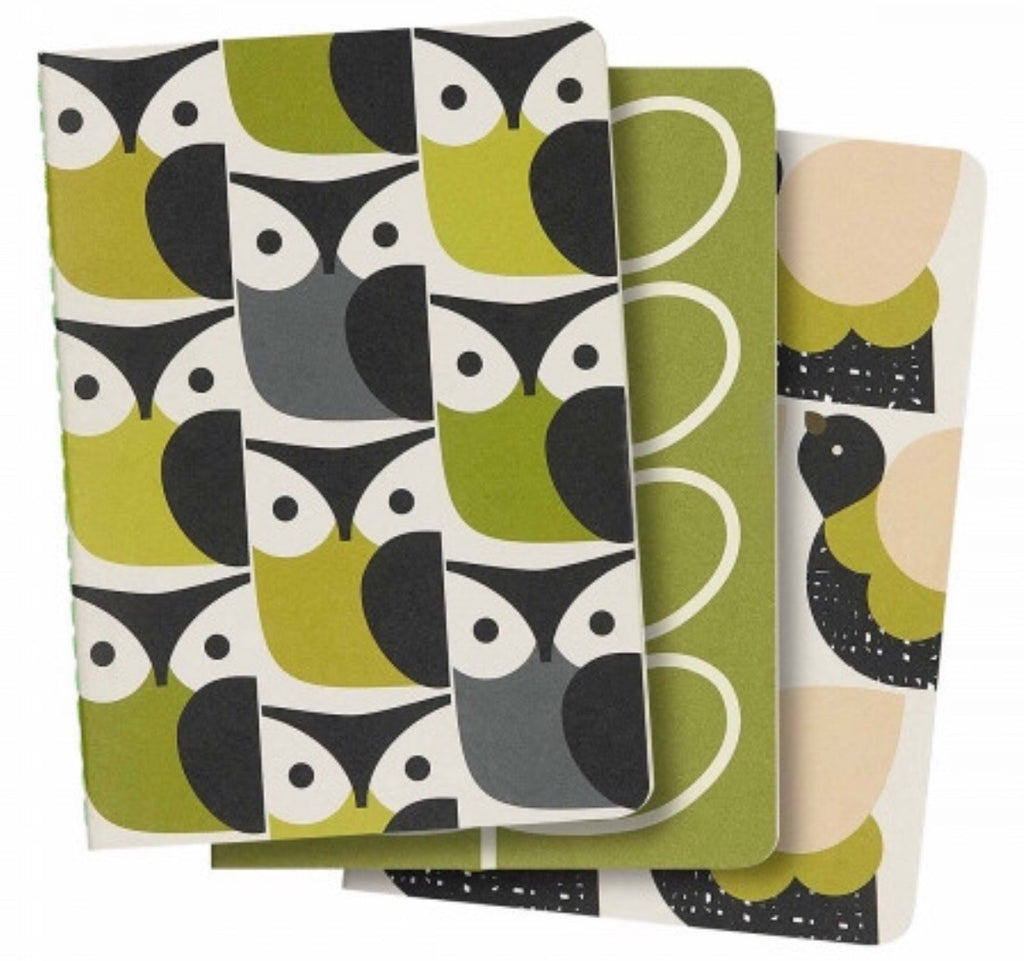 Orla Kiely A6 Mini Notebooks Set of 3, Birds