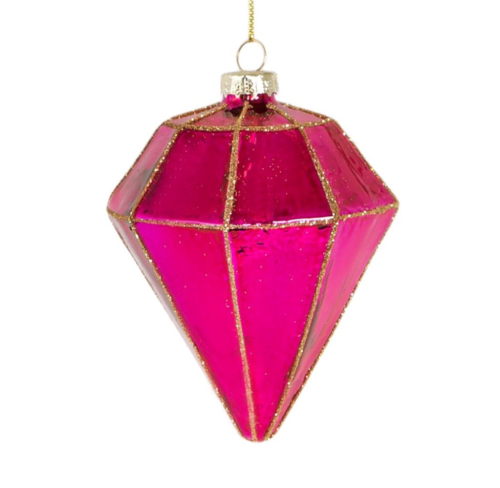 Pink Shine Bright Diamond Bauble