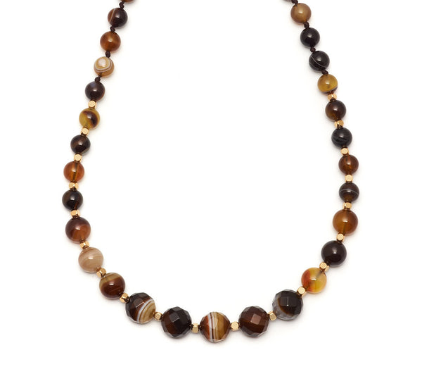 Lola Rose Apollo Necklace - Chocolate Montana Agate