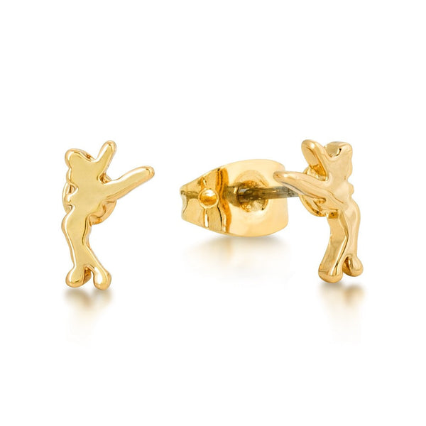 Disney Couture Junior Tinkerbell Gold Stud Earrings