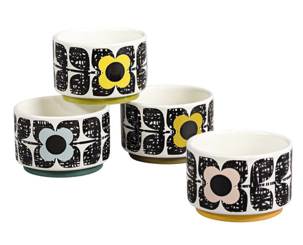Orla Kiely Scribble Square Flower Set of 4 Ramekins