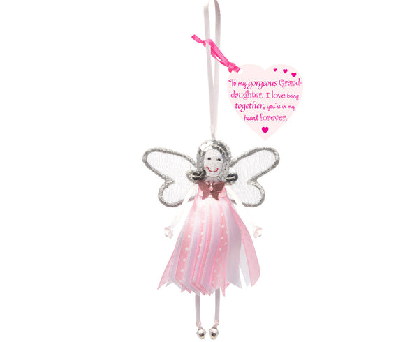 'To My Gorgeous Granddaughter' Spotty Quote Fairy