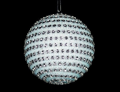 Pale Blue Diamante Bauble