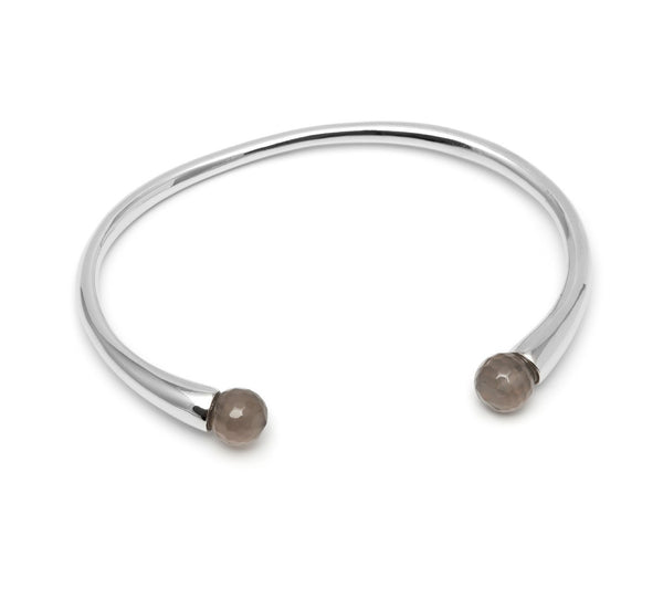 Lola Rose Boutique Cornelia Adjustable Bracelet - Grey Agate