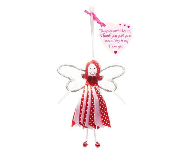 'To My Wonderful Mum' Spotty Quote Fairy