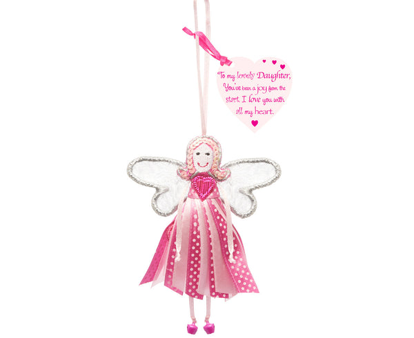 'To My Lovely Daughter' Spotty Quote Fairy
