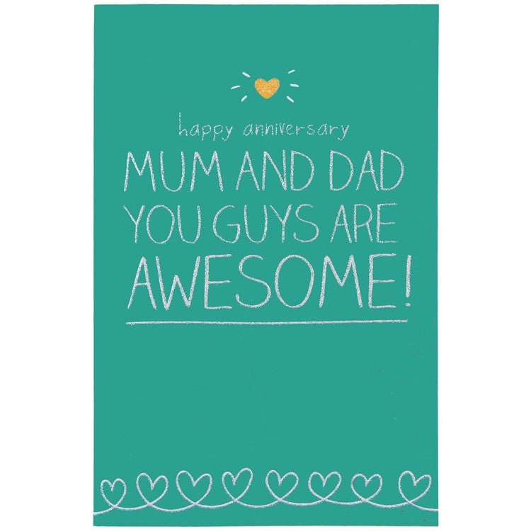 Happy Jackson Happy Anniversary Mum & Dad Card