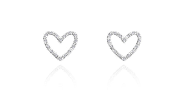 Joma Jewellery -  Evie Heart Stud Earrings