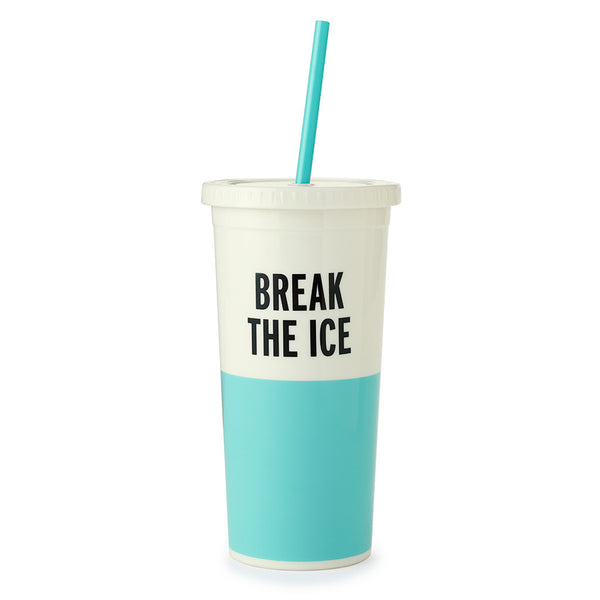 Kate Spade New York Tumbler with Straw - Break the Ice