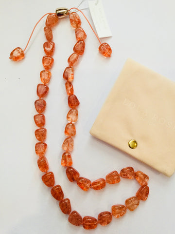 Lola Rose Ann Necklace - Tropical Orange Rock Crystal