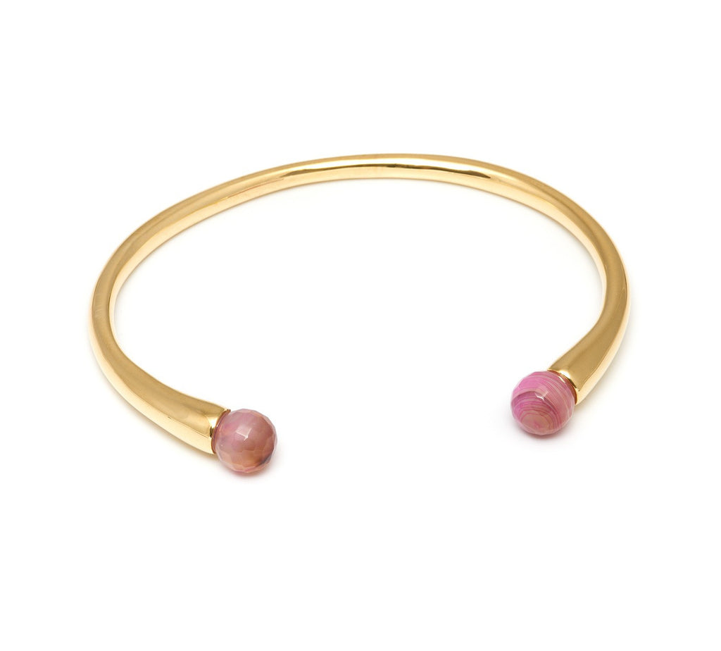 Lola Rose Boutique Cornelia Adjustable Bracelet - Pink Montana Agate