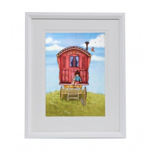 "Belle & Boo Shepherd's Hut 11 x 14"" Framed Art Print (Signed)"