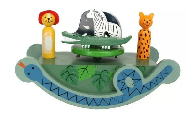 Gisela Graham Wooden Music Box Jungle See-Saw