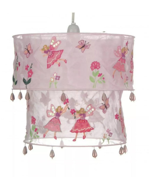 Sass & Belle pink flower fairy lampshade