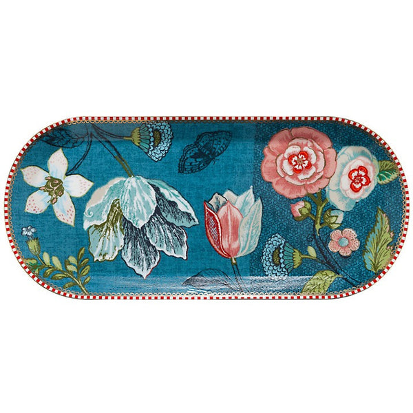 PiP Studio Spring to Life Rectangular Cake Tray - Blue