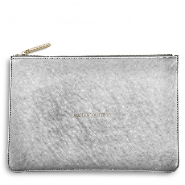 Katie Loxton Perfect Pouch - All That Glitters (Silver)