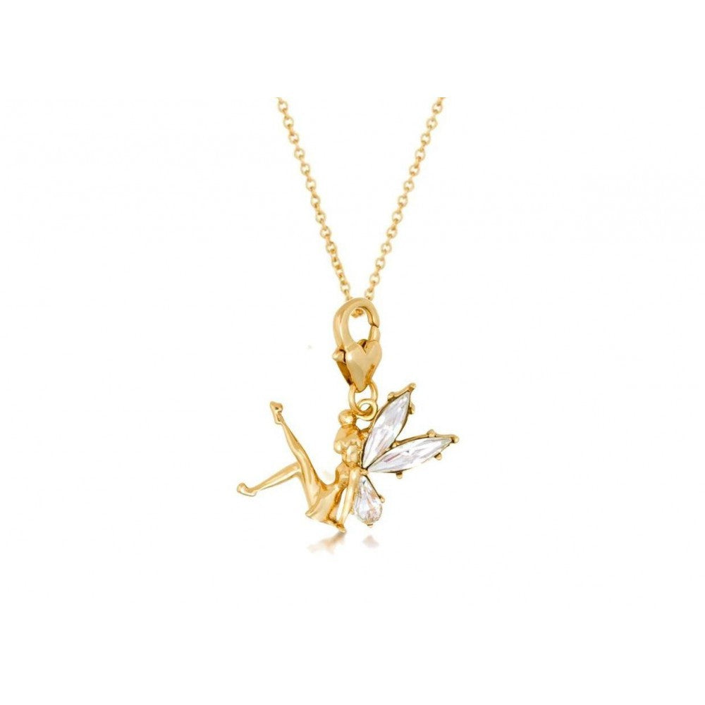 16147c01c Disney Couture Gold Tinkerbell with Crystal Wings Charm & Necklace ...