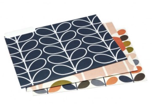Orla Kiely A4 Card File Folders Set 6 Assorted