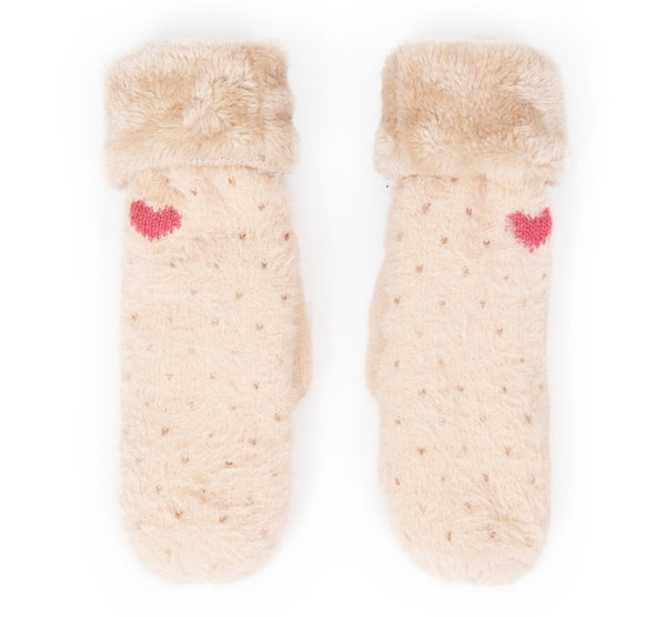 Powder Cosy Polly Mittens Cream