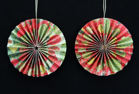 Origami Paper Disc Tree Decoration