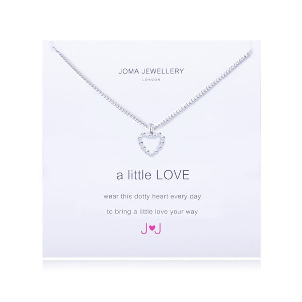 Joma Jewellery A Little Love Necklace - Dotty Heart