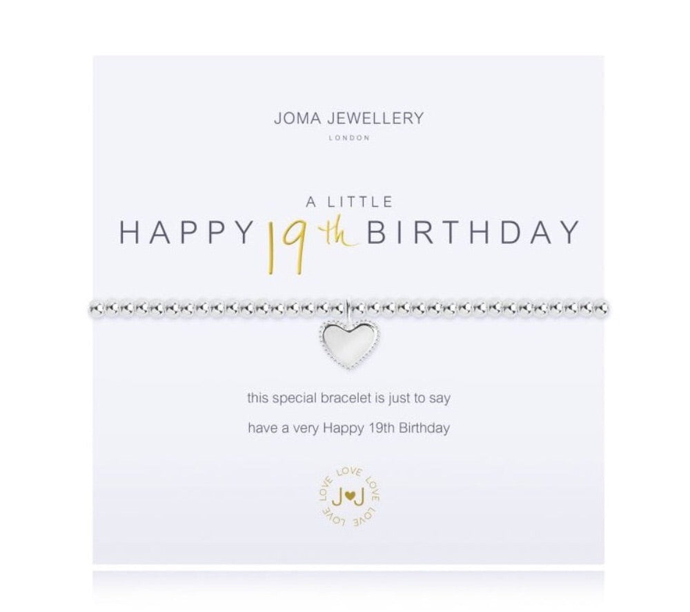 Joma Jewellery A Little Happy 19th Birthday Bracelet