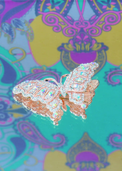Powder Butterfly Brooch