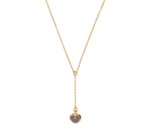 Lola Rose Boutique Bettina Necklace - Grey Agate