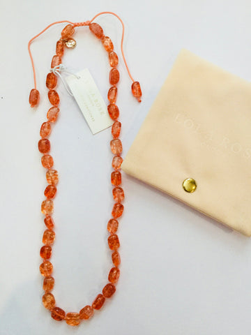 Lola Rose Ava-Grace Necklace - Tropical Orange Rock Crystal