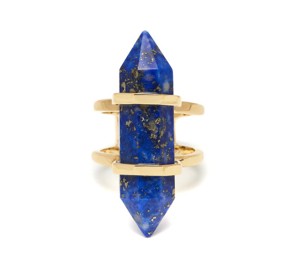 Lola Rose Boutique Obelisk Open Ring - Lapis Lazuli